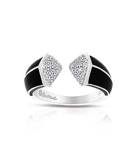 Belle Etoile: Pyramid Black Ring