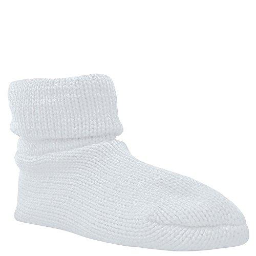 Muk Luks Cuff Calzino Donna Bianco Pantofola