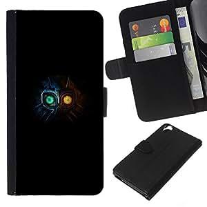 NEECELL GIFT forCITY // Billetera de cuero Caso Cubierta de protección Carcasa / Leather Wallet Case for HTC Desire 820 // Totem Máscara Ojos Brillantes