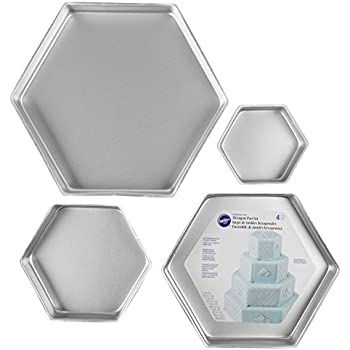 Amazon Com Fat Daddio S Anodized Aluminum Hexagon Cake