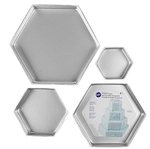 Wilton 4 Piece Performace Pan Sets, Hexagon Set