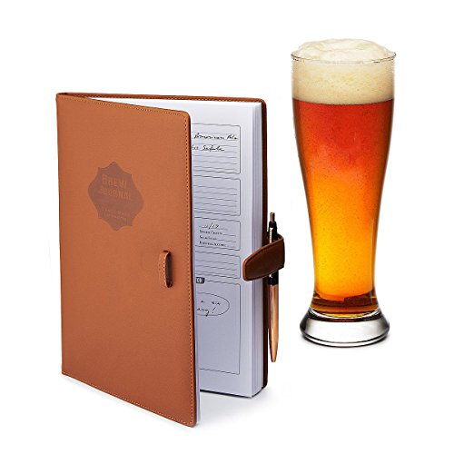 Home brew Journal for Craft Beer Homebrewers | Homebrew Logbook w/ space for 70+ recipes | Beer Glassware Reference, Beer Color Chart, Hops and Yeast Strain Chart |