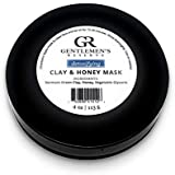 Men's Detoxifying Clay & Honey Face Mask by Gentlemen's Reserve - All Natural & Organic - Handmade in USA - Suitable for Dry, Normal, or Sensitive Skin (4oz)