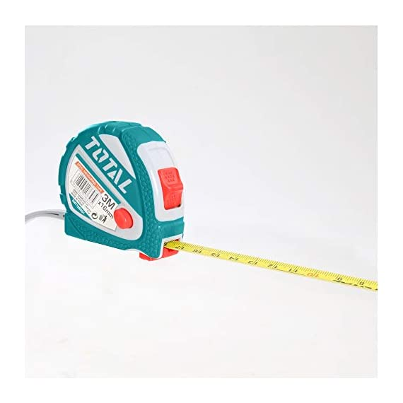 MR LIGHT TOTAL Iron Steel Measuring Tape, 3 m x 16 mm, Multicolour 2