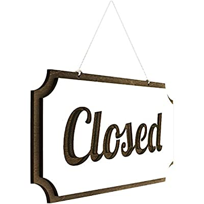 Rustic Open Closed Sign - Double-Sided Open Sign - Vintage Style Wood Closed Sign - Open and Closed Sign for Business - Decorative Open-Closed Sign 12 ? 6 Inches