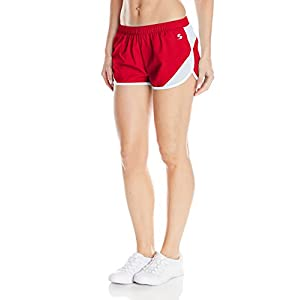 Soffe Women's Woven Mesh Insert Short, Red, Large