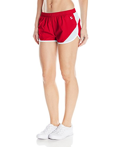 Soffe Women's Woven Mesh Insert Short, Red, Large (Mesh Soffe)