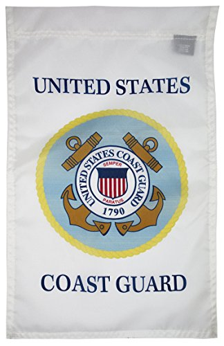 FlagSource U.S. Coast Guard Nylon Garden Flag, Made in The USA, 18x12 ()