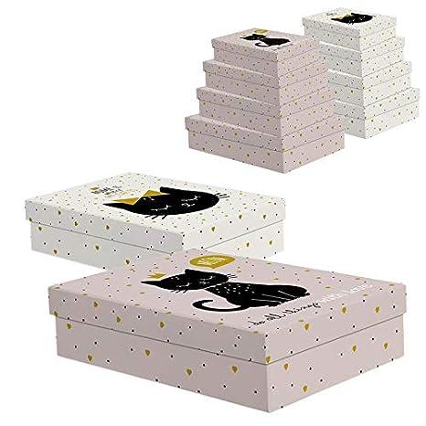 Home Gadgets Caja Carton 2 Juegos 4 Cajas Rectangulares ...