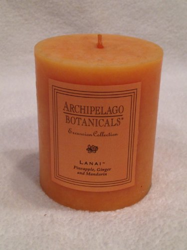 "Archipelago Botanicals, Excursion Collection, Lanai 2.75"" X 3.25 Pillar Candle (Discontinued Size)"