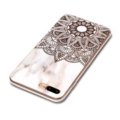 Fundas y estuches para teléfonos móviles, Funda Para Apple iPhone X iPhone 8 Plus Diseños Funda Trasera Mármol Suave TPU para iPhone X iPhone 8 Plus iPhone 8 iPhone 7 Plus iPhone ( Modelos Compatibles IPhone 7