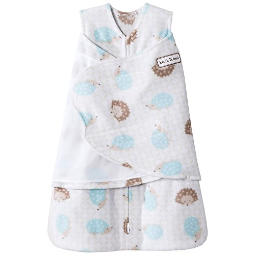 Halo Sleepsack Micro-Fleece Swaddle, Hedgehog, Small -