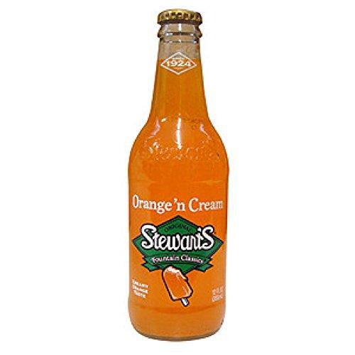 Stewart's Orange Cream Nostalgic Soda, 12 oz (24 Glass Bottles) (Stewarts Orange Soda compare prices)