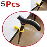 AUXPhome 5pcs - Easy-to-Use Desk or Table Clip Holder Stability Support,Walking Stick Cane Crutch Support Clip/Support Holder Rest Holder Grip Table Rest - Clip On Table Rest ~ Perfect Solution