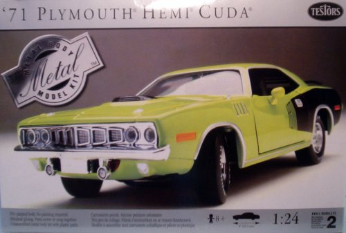 Plymouth Hemi Cuda Body - 1971 Plymouth Hemi Cuda Metal Body Kit by Testors 1:24