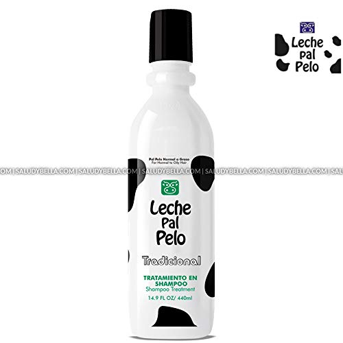 Leche Pal Pelo Salt Free Shampoo Treatment with Natural Soy and Wheat Proteins, Deep Cleaning for Shiny and Silky Hair, 14.9 oz.