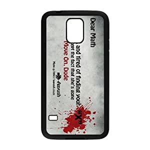 Protective TPU cover case blood splatter typography maths Samsung Galaxy S5 Cell Phone Case Black