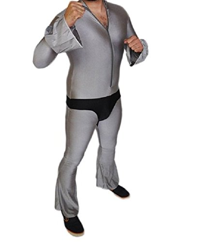 GRAY AND BLACK UNITARD ZENTAI SUIT-Extra Large-A2299, GREY, Extra -