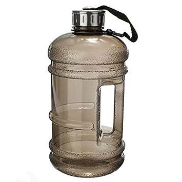 icase4u - Botella deportiva para agua de 2,2 L, libre de BPA, tapa de acero inoxidable duradera y extra fuerte, para deporte, gimnasio, entrenamiento