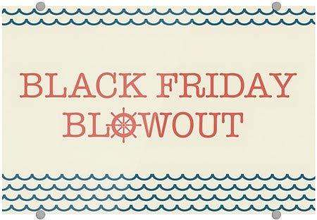 CGSignLab Nautical Wave Premium Acrylic Sign Black Friday Blowout 27x18