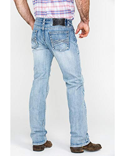 Panhandle Men's Rock and Roll Cowboy Abstract A Reflex Slim Straight Jeans Indigo 38W x 34L - Panhandle Slim Rock