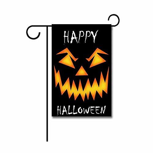 Kafepross Scary Halloween Face Garden Flag 12.5