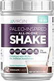 JJ Virgin Chocolate Paleo-Inspired All-in-One Shake - Paleo + Keto Friendly Protein Powder (15 Servings)
