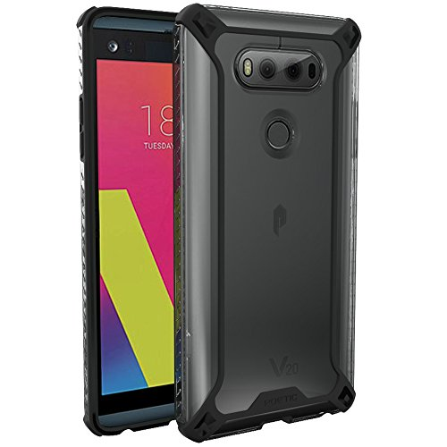LG V20 Case, POETIC Affinity Series Premium Thin/No Bulk/Slim fit/Clear/Dual Material Protective Bumper Case for LG V20 (2016) Black/Clear