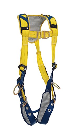 Tongue Buckle Leg Straps and Comfort Padding X-Large 3M DBI-SALA DeltaComfort 1100884 Fall Arrest Kit with Back//Front//Side D-Rings Navy//Yellow Capital Safety