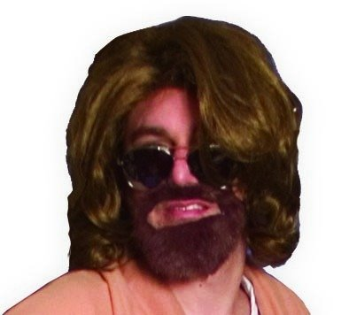 With Costumes Dudes Beards For (The Big Lebowski The Dude Wig and Beard Kit Brown)