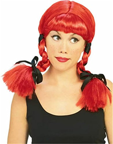 Rubie's Costume Country Girl Wig, Red, One Size (Fancy Dress Red Wig)
