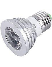 AC85-265V 16 Colors changing RGB LED Lamp 4.5W E27 RGB LED Bulb Lamp Spotlight with Remote