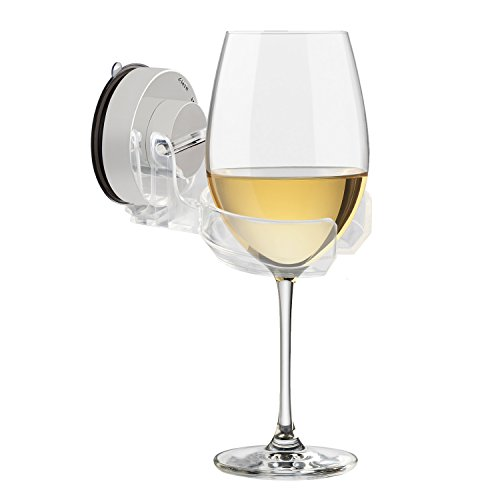 Carry360 Bath & Shower Wine Beer Holder, Multifunctional Bathtub Beer Wine Cupholder Caddy Strong Suction Cup Drink Holder, 2.7