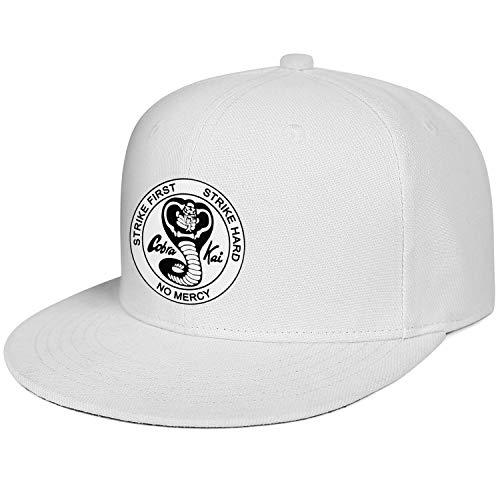 SHTHYTS Men's Cobra-Kai-Black-Snake-Logo-Emblem-Adjustable Snapback Hat Wool Summer Trucker Dad Baseball Cap -