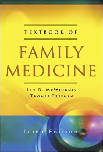 Textbook of Family Medicine by Ian R McWhinney (2009-04-08)