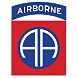 US Army - 82nd Airborne Patch Reflective Decal - 3.5 Inch Tall Full Color Decal On 3M Reflective Material, Sticker