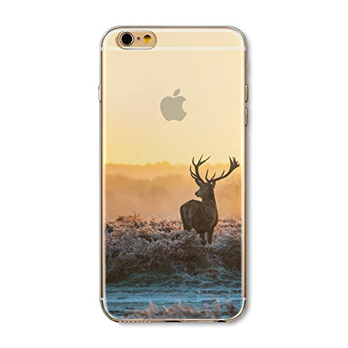 Iphone 6 Case  Floral Print Stunning Transparent Clear Ultra Slim Tpu Skin Shell Cover For Apple Iphone 6   Beautiful Fashion Scenery Series Design Cases  Scenery Pattern Iphone 6 4 7 Inch   Color 1