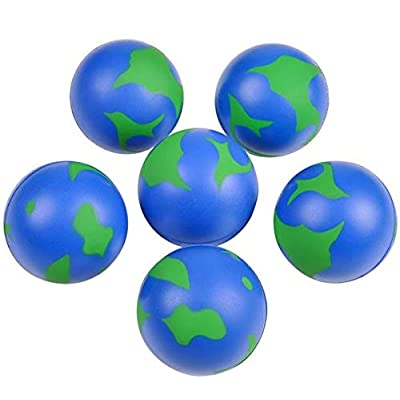 Rhode Island Novelty 2 Inch Earth Stress Balls Pack of 24: Toys & Games