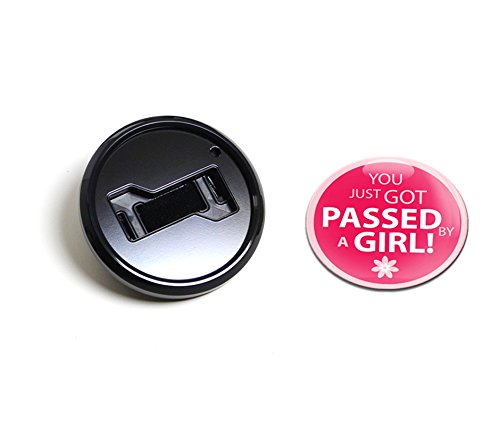 GoBadges BKC035 Girl Passed Magnetic Black Grill Badge Holder Combo//Universal Fit//No Tools Required//Weather-Proof and Car-Wash Safe