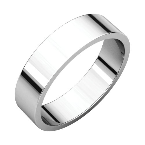 Bonyak Jewelry Palladium 5 mm Flat Band in Palladium - Size 8.5