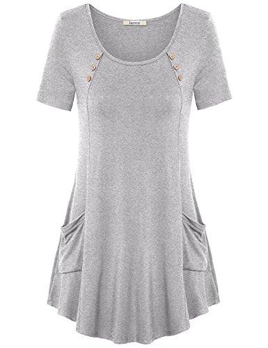 Jazzco Womens Sleeve Shirts Pockets
