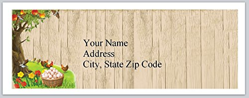 Address Chicken Labels (120 Personalized Return Address Labels Chicken Eggs Farm (bx 240))