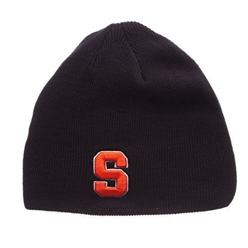 Adult Men Edge Knit Beanie, Adjustable, Team Color (Orange Team Color)