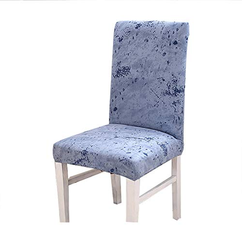 Spandex Chair Cover Dining Room Printed Stretch Anti-Dirty Elastic Seat Cover for Wedding Party Home Kitchen Furniture,Stone,Universal -