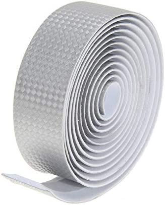 Silver Road Bike Cycling Bicycle Cork Carbon Handlebar Wrap Tape 2 Bar Plugs