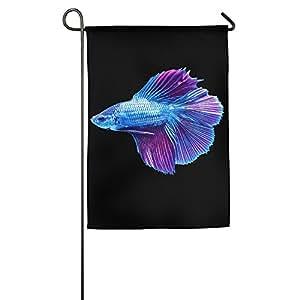 Azul Betta Fish Impreso casa patio jardín bandera para Present