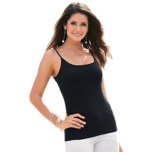 Nero 112004 Vencastyle Maglietta Donna Thin Spaghetti di Lisa wwq0pTz
