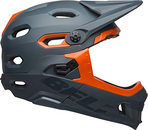 Bell Super DH MIPS Adult MTB Bike Helmet (Matte/Gloss Slate/Orange (2019), Large)