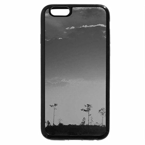 iPhone 6S Case, iPhone 6 Case (Black & White) - Setting Sun over the Swampland