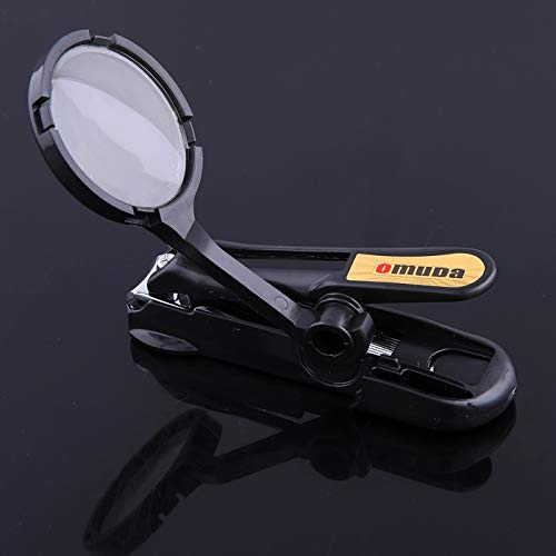OMUDA Stainless steel nail clippers with magnifying glass Toenail Fingernail Clippers The elderly and children's Nail cutter